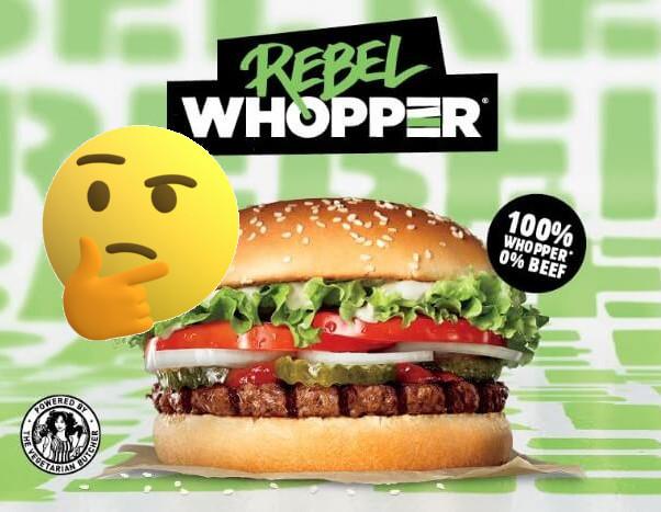"Rebel Whopper – ""Wegański"" Fastfood"